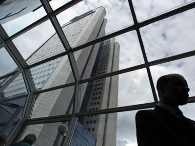 A general view of the headquarters of Russian gas giant Gazprom (Reuters/Maxim Shemetov)