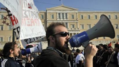 Greek police fire tear gas at protesters in latest clashes (VIDEO)