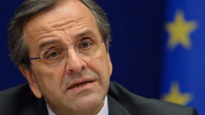 Greek Prime Minister Antonis Samaras (AFP Photo/Eric Feferberg)