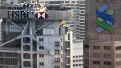 HSBC and Standard Chartered Bank headquarters. (Reuters / Bobby Yip)