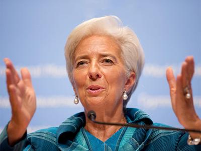 International Monetary Fund (IMF) managing director Christine Lagarde  (AFP Photo)