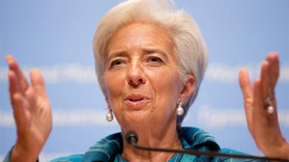 International Monetary Fund (IMF) managing director Christine Lagarde  (AFP Photo)