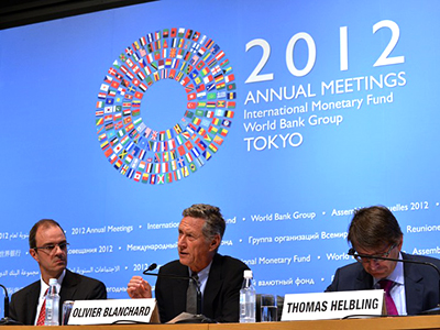 The IMF cuts global outlook, warns of further slump