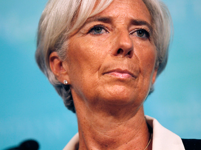 International Monetary Fund Managing Director Christine Lagarde attends a news conference following the release of the IMF's annual report on the U.S. economy, at the IMF headquarters in Washington, July 3, 2012 (Reuters/Jason Reed)