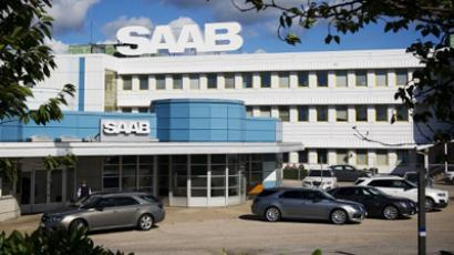 The SAAB factory in Trollhaettan, north of Gothenburg (AFP Photo/Jonathan Nackstrand)