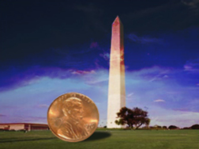 It must be raining cents in Washington