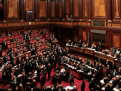A general view of the Senate in Rome (Reuters/Alessandro Bianchi)