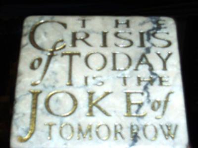 Joking the crisis away