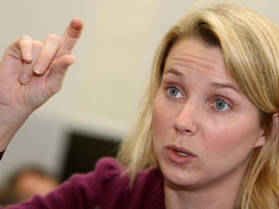 Marissa Mayer (AFP Photo DDP / Oliver Lang Germany Out)