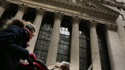 The front of the New York Stock Exchange.(AFP Photo / Spencer Platt)