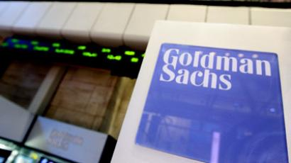 A Goldman Sachs sign is seen on the floor of the New York Stock Exchange (Reuters/Brendan McDermid)
