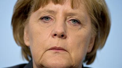 Germany, Berlin : German Chancellor Angela Merkel gives a press conference. (AFP Photo / Johannes Eisele)