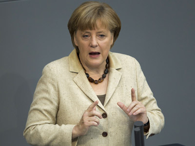 German Chancellor Angela Merkel (Reuters / Thomas Peter)