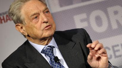 George Soros, Chairman of Soros Fund Management (AFP Photo / Fabrice Coffrini)