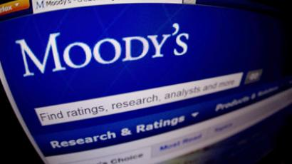 A close-up of the opening page of the ratings agency Moody's website (AFP Photo / Joel Saget)