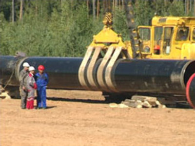 Construction of Nord Stream gas pipeline
