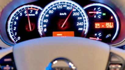 A Russia-manufactured Nissan Taena dashboard.