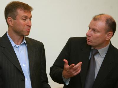 Roman Abramovich and Vladimir Potanin (RIA Novosti / Ruslan Krivobok)