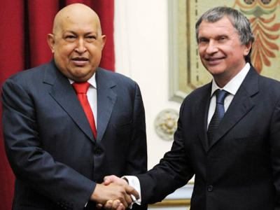 Chavez Sechin meeting puts icing on trade links with new agreements