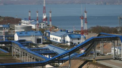 The oil depot of the specialized oil-loading seaport Kozmino in the Primorye Territory, the endpoint of the East Siberia - Pacific Ocean (ESPO) pipeline system (RIA Novosti / Vitaliy Ankov)
