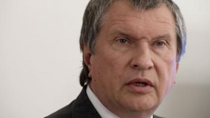 Rosneft President Igor Sechin after the meeting with Russian President Vladimir Putin.(RIA Novosti / Sergey Guneev)