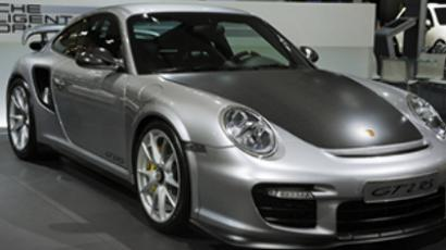 The Porsche 911 GT2 RS presented at the 3rd 2010 Moscow International Auto Show (RIA Novosti / Grigoriy Sisoev, STF)
