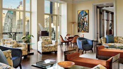 The apartment at 15 Central Park West (image from http://www.architecturaldigest.com)