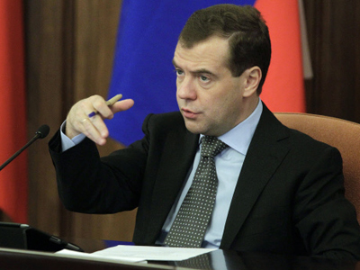 Medvedev trumpets Russia as crisis-proof