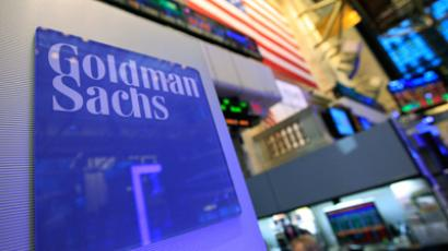 A Goldman Sachs sign is seen on at the company's post on the floor of the New York Stock Exchange, January 18, 2012 (Reuters/Brendan McDermid)