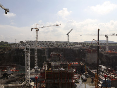 A general view of the Panama Canal Expansion project in Panama City April 20, 2012. (Reuters/Carlos Jasso)
