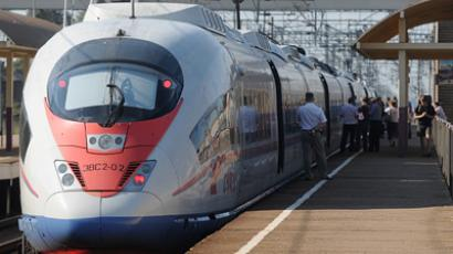 Sapsan high-speed train (RIA Novosti / Konstantin Chalabov)