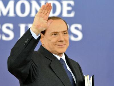 France, Cannes: Italy's Prime Minister Silvio Berlusconi.(AFP Photo / Eric Feferberg)