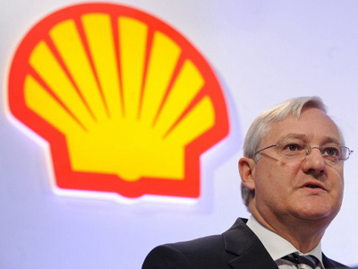 Peter Voser, Chief Executive of Royal Dutch Shell (AFP Photo / Ben Stansall)