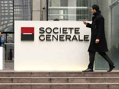 The headquarters of French bank Societe Generale. (Reuters/Benoit Tessier)