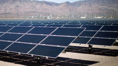 Solar panels are pictured in the Nevada Desert (Reuters/Jason Reed)