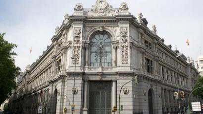 This picture taken on June 8, 2012 shows the Banco de Espana (Bank of Spain) in Madrid (AFP Photo / Dominique Faget)