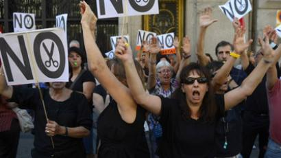 Mass protest in Spain against 'authoritarian' austerity (VIDEO, PHOTO)