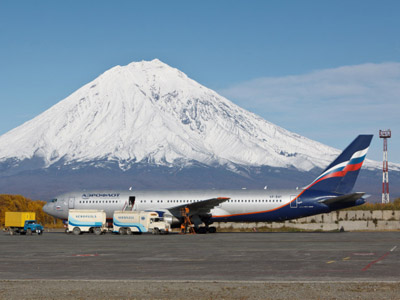 Yelizovo international airport in Petropavlovsk-Kamchatsky. (RIA Novosti/Alexandr Piragis)