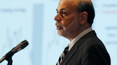 Federal Reserve Board Chairman Ben Bernanke addresses the National Association for Business Economics Policy conference in Alexandria, Virginia March 26, 2012 (Reuters / Gary Cameron)
