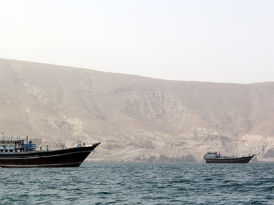 Ships are seen in the Strait of Hormuz off Oman  (AFP Photo/Karim Sahib)
