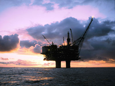 A-platform in the North Sea.(AFP Photo / Oyving Hagen)