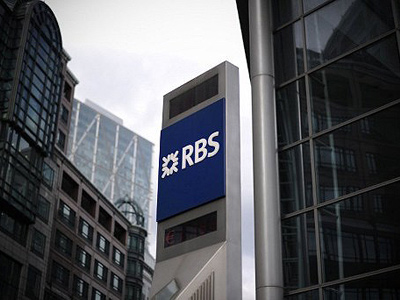 A Royal Bank of Scotland (RBS) sign is pictured outside a branch in central London (AFP Photo / Carl Court)