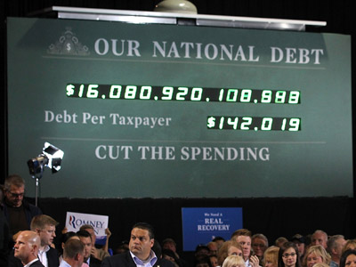 US debt clock (Alex Wong/Getty Images/AFP)