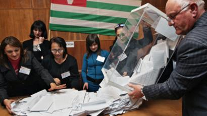 Ballot count at the presidential election in a polling station, Abkhazia (RIA Novosti / STF)