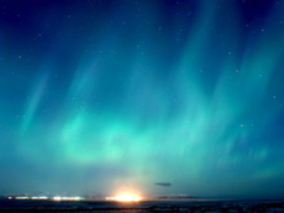 Polar lights in Chukotka