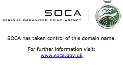 SOCA parked page on former RnBxclusive.com file-share service
