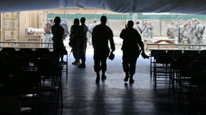 US soldiers at the Bagram airfield north of Kabul (Reuters/Ahmad Masood)