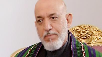 The President of Afghanistan Hamid Karzai