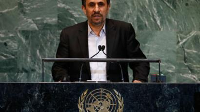 Iran's President Mahmoud Ahmadinejad speaks during the 67th United Nations General Assembly at U.N. headquarters in New York.(Reuters / Mike Segar)