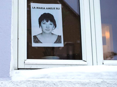 A leaflet saying 'Let Maria Amelie stay' (Image from batsav.com)